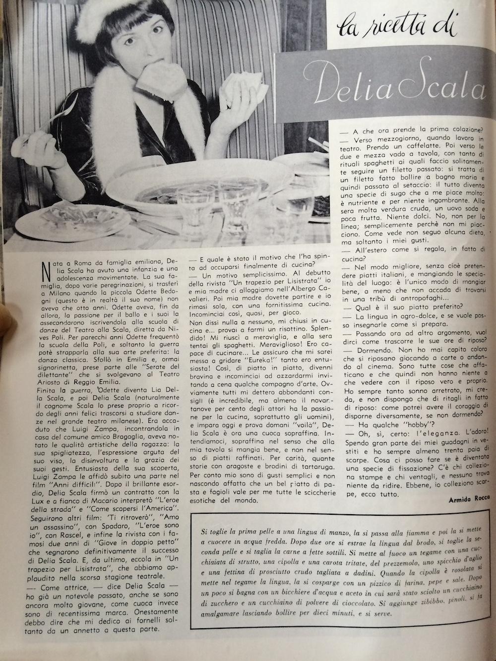 1960 lingua in agrodolce di delia scala massaie moderne - Si mette in tavola si taglia ma non si mangia ...